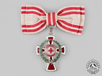 Austria, Imperial. An Order of the Red Cross, II Class Cross with War Decoration, Ladies Issue (Rothe Copy)