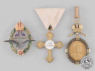 Austria, Imperial. A Lot of Three Badges & Decorations (Collectors Copies)