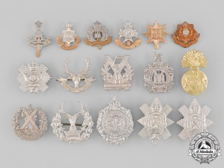 United Kingdom. A Lot of Sixteen Regimental Badges