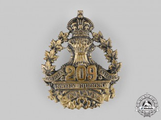 Canada, CEF. A 209th Infantry Battalion Cap Badge, c.1916