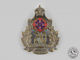Canada, CEF. A 210th Infantry Battalion Cap Badge, by Crichtons, Moose Jaw