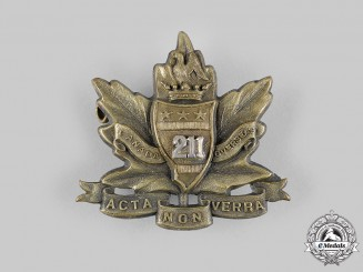 "Canada, CEF. A 211th Infantry Battalion ""Alberta Americans"" Officer's Cap Badge, c.1916"