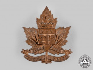 "Canada, CEF. A 212th Infantry Battalion ""Winnipeg Americans"" Cap Badge, c.1916"