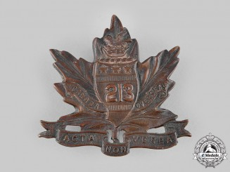 "Canada, CEF. A 213th Infantry Battalion ""Toronto Americans"" Cap Badge, by Geo.E.Lees, c.1916"