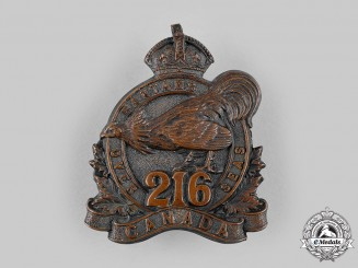 "Canada, CEF. A 216th Infantry Battalion ""Toronto Bantams"" Cap Badge, by Ellis Bros, c.1916"