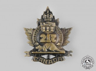 """Canada, CEF. A 217th Infantry Battalion """"Qu'Appelle Battalion"""" Cap Badge, c.1916"""