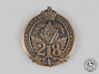 "Canada, CEF. A 218th Infantry Battalion ""Edmonton Irish"" Cap Badge, c.1916"