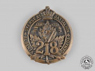 """Canada, CEF. A 218th Infantry Battalion """"Edmonton Irish"""" Cap Badge, c.1916"""