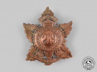 "Canada, CEF. A 219th Infantry Battalion ""Nova Scotia Highlanders"" Glengarry Badge, c.1916"