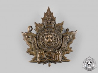 "Canada, CEF. A 220th Infantry Battalion ""York Rangers"" Cap Badge, c.1916"