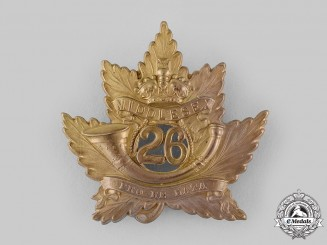 Canada, Dominion. A 26th Regiment Middlesex Light Infantry Glengarry Badge, Scarce