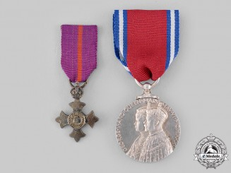 United Kingdom. Two Medals & Awards
