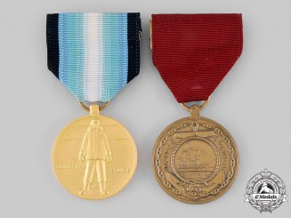 United States. Two Medals