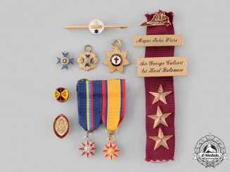 United States, International. A Lot of Nine Awards and Miniature Medals