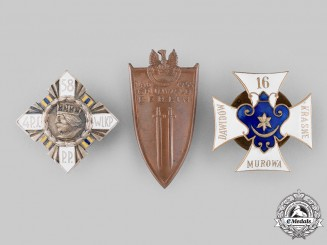 Poland, People's Republic. Three Post-1945 Manufactured Regimental Badges