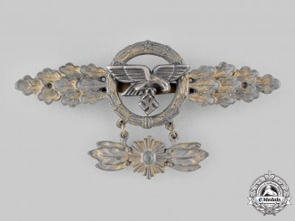 Germany, Luftwaffe. A Front Flying Clasp for Transport Pilots, with Hanger, Gold Grade