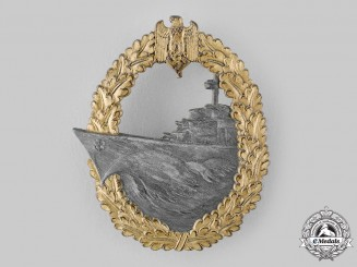 Germany, Kriegsmarine. A Destroyer War Badge, by Josef Feix & Söhne