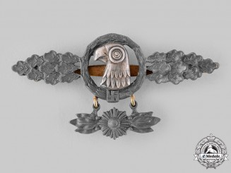 Germany, Luftwaffe. A Reconnaissance Squadron Clasp with Hanger, Gold Grade, by Imme & Sohn