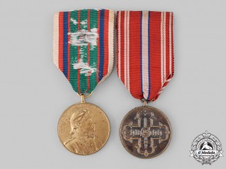 Czechoslovakia, Republic. Two Awards & Decorations