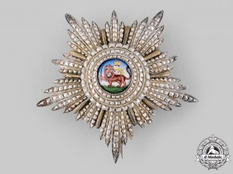 Iran, Pahlavi Empire. An Order of the Lion and the Sun, Breast Star, Military Division, Royalty Issue