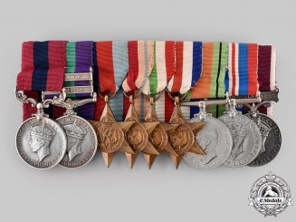 United Kingdom. A Royal Scots Fusiliers North West Europe Distinguished Conduct Medal to Warrant Officer Class II McKue