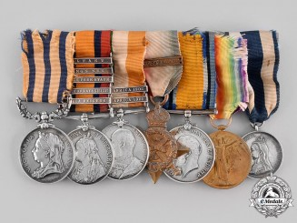 United Kingdom. A South African War & First War Group to Revoked DSO Recipient, Lieutenant Sidney Herbert Chapin