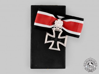 Germany, Federal Republic. A Knight's Cross of the Iron Cross with Oak Leaves and Swords, with Case, 1957 Version