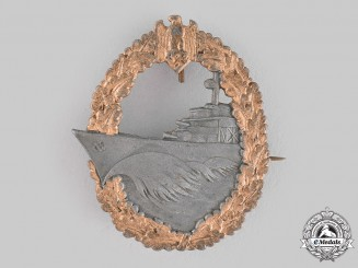 Germany, Kriegsmarine. A Destroyer War Badge by Josef Feix & Söhne
