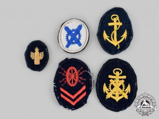 Germany, Kriegsmarine. A Lot of Kriegsmarine Career Specialist EM/NCO Sleeve Insignia