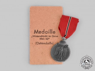 Germany, Wehrmacht. An Eastern Front Medal, with Package of Issue, by Carl Poellath