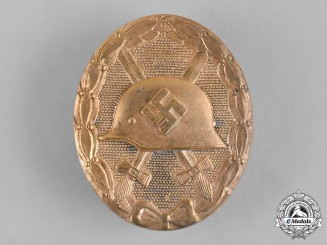 Germany, Wehrmacht. A Wound Badge, Gold Grade, by the Official Vienna Mint