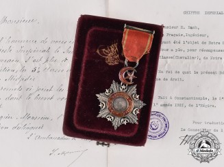 Turkey, Ottoman Empire. An Order of the Medjidie, V Class Knight with Case, to E. Bach