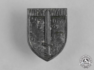 Germany, Heer. A 215th Infantry Division West Wall Badge