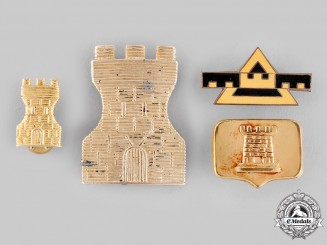 Argentina, Republic. Four Argentine Army Engineer's Badges