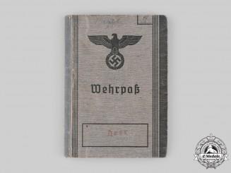 Germany, Heer. A Wehrpaß to Heer Obergefreiter Josef Steels, KIA on the Eastern Front