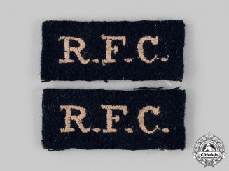 United Kingdom. A Royal Flying Corps (RFC) Shoulder Flash Pair, c.1918