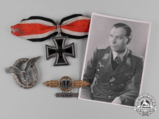 Germany, Luftwaffe. The Decorations, Awards & Photographs of Fighter Ace Franz Dörr