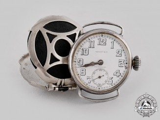 United States. An Officer's Trench Watch by Tiffany & Co to Lieutenant Chase, Aviation Instructor, 1918