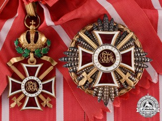 Austria, Imperial. An Imperial Order of Leopold, I Class with War Decoration & Gold Grade Swords (Rothe Copy)