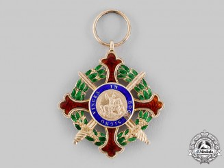 Italy, Kingdom of Two Sicilies. A Royal Military Order of St. George, Knight of Justice (Collectors Copy)