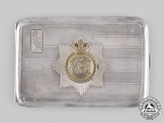 Canada. A Royal Canadian Regiment Cigarette Case