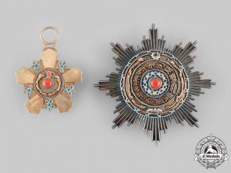 China, Qing Dynasty. An Imperial Order of the Double Dragon, II Class, III Grade, c.1905