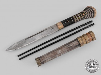 China, Qing Dynasty. A Knife Set