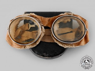 United States. A French-Made Army Air Service Flying Goggles, Attributed to Herbert D. Smith