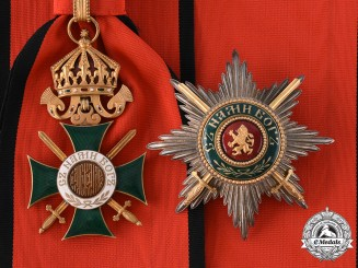 Bulgaria, Kingdom. An Order of Saint Alexander, I Class Grand Cross with Swords, by C.F. Rothe c.1940