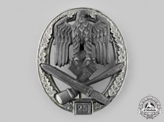 Germany, Heer. A General Assault Badge, Special Grade 25, by Rudolf Karneth & Söhne