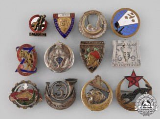 France, Republic. A Lot of Twelve Regimental Badges