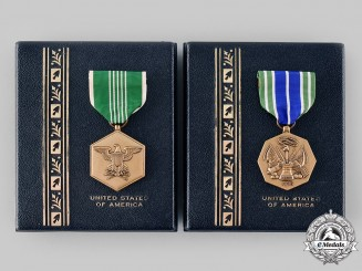 United States. Two Army Medals in Case