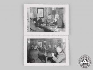 Germany, Wehrmacht. A Pair of Photographs of Wehrmacht Officers in Finland