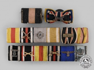 Germany, Wehrmacht. A Lot of Medal Ribbon Bars & Boutonniere